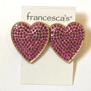 Francesca's Collections Jewelry - Francesca's Big Pink Heart Earrings